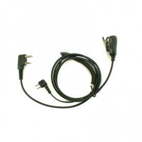 Peltor adapterkabel m/sendeknap