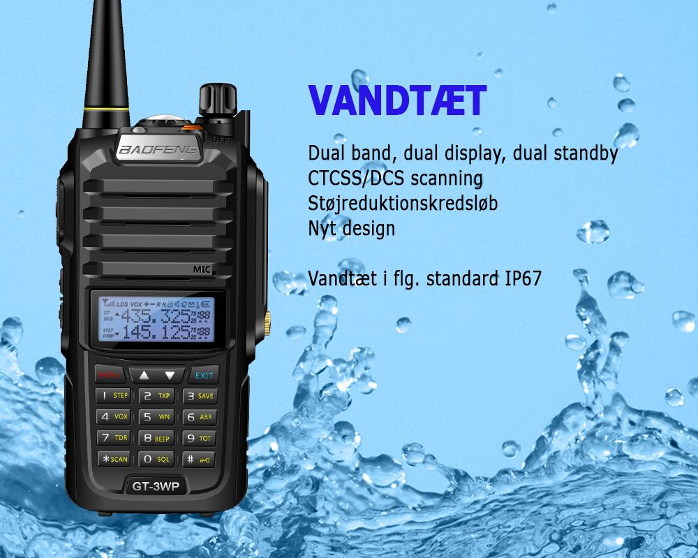 Baofeng GT-3 WP VHF/UHF
